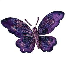 Purple Butterfly Decorations Purple Butterfly On Clip 18cm Party Decorations And Supplies