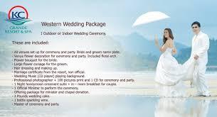 wedding packages wedding package kc grande resort spa koh chang