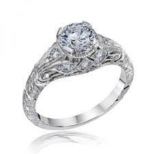 carved engagement rings carved diamond rings die struck vintage filigree antique