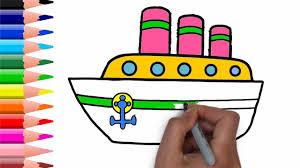drawing water transportation u0026 car for kids simple coloring book