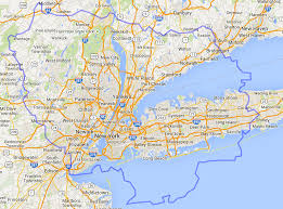 map of areas and surrounding areas map of greater new york city area major tourist for nyc