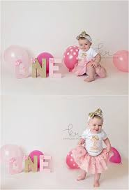 cake smash first birthday 1st one pink gold balloons