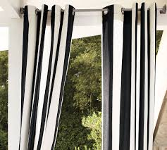 Black Outdoor Curtains Striped Outdoor Curtains And Drapes On Virginia