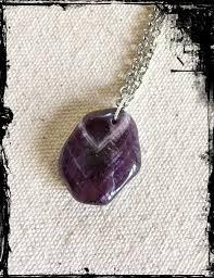 purple necklace chain images Purple natural polished chevron amethyst healing gemstone pendant jpg