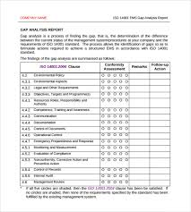 analytical report template sle gap analysis 11 documents in pdf excel