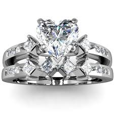 heart bridal rings images Heart diamond wedding ring pics with bridal sets heart shaped jpg