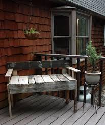 Patio Furniture Out Of Wood Pallets by Visibly Moved Diy Pallet Deck Furniture