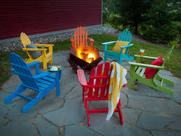 Colored Adirondack Chairs Patio Furniture With The Earth In Mind Patio Productions