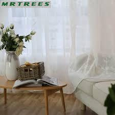 Wohnzimmer Fenster Mrtrees Moderne Bestickt Gardinen Fenster Tüll Vorhänge Für