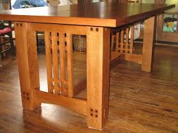 arts u0026 crafts inspired dining table finewoodworking