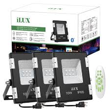 10w ilux app mesh bluetooth mesh led rgb smart flood