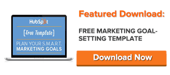 how to set smart marketing goals free template