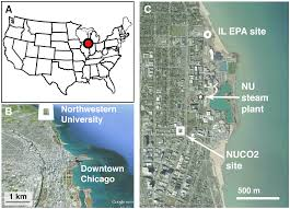 Map Of Downtown Chicago by Seasonally Varying Contributions To Urban Co2 In The Chicago