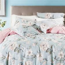 Pink And Blue Girls Bedding by Aliexpress Com Buy Blue Peony Duvet And Pink Cover Bed Foral
