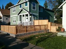 privacy fence and front yard project on the west side sod seattle