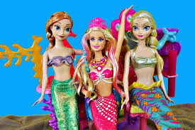 Anna Hair Extensions by Frozen Elsa Mermaid Barbie And Anna With Ariel Color