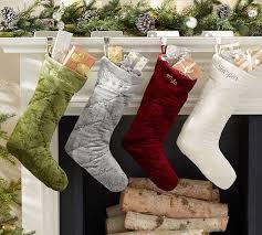 christmas stockings sale shiny velvet quilted stockings pottery barn