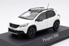 peugeot 2008 black peugeot 2008 2016 white die cast model norev 479847