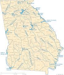 ga map map of lakes streams and rivers