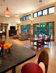 Open Plan Kitchen Living Room Lighting - open space living rooms with airy and stylish interior decors