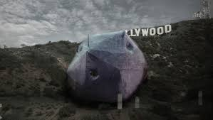 rotating orb designed to sit under the hollywood sign wins house