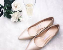 wedding shoes low heel pumps beige wedding shoes etsy