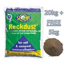 What Is Rock Dust For Gardens Rockdust Minerals 20kg 5kg Free The Garden Factory