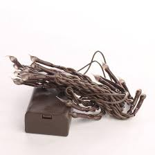 battery operated silicone dipped bulb brown cord string lights