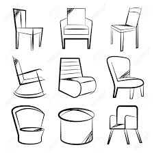 Types Of Chairs by Sketch Chair Set Royalty Free Cliparts Vectors And Stock