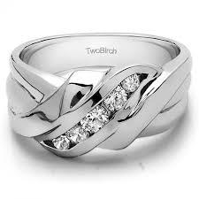 unique mens wedding rings 0 48 carat swirl style cool s ring or unique mens wedding ring