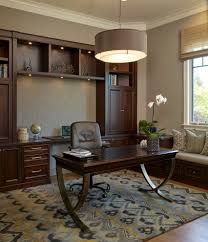 desk bay window home office traditional with high ceilings high