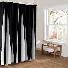 Black Bathroom Curtains Modern Polyester Shower Curtains Black White Striped Printed