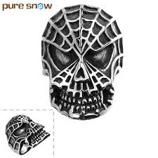 top quality europe style retro rings personality ghost skull