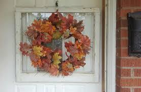 old wood window frame upcycled grapevine wine decor rustic old wood window frame single pane door hanger wreath autumn thanksgiving decor leaf