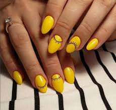 and artsy yellow nail inspirations for thanksgiving