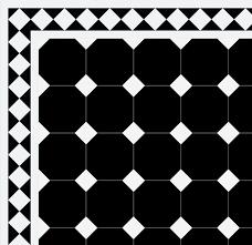 octagon floor tiles 15 x 15 cm black winckelmans