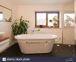 bad modern freestanding tub stock photo royalty free image