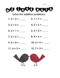 addition worksheets for grade 1 activity shelter math