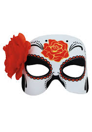 day of the dead masks womens day of the dead half mask
