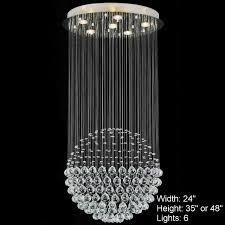 Christal Chandelier Brizzo Lighting Stores Sphere Modern Chandelier Large