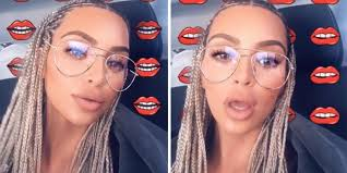 picture of corn rolls kim kardashian got cornrows and people have a lot of feelings