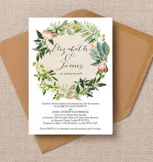 wedding invites flora wreath wedding invitation from 1 00 each