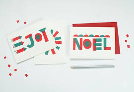 Graphic Design Holiday Cards Diy Color Block Holiday Cards U2014 Hello Lucky