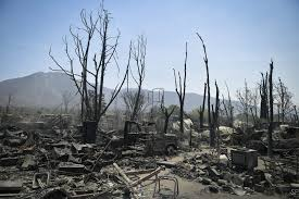 California Wildfire Names by California Wildfire U0027most Destructive U0027 In County History Chicago