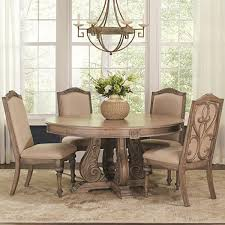 coaster iliana round dining table antique linen 122210 at