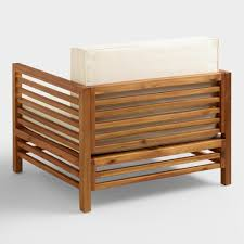 World Market Outdoor Chairs by Wood Praiano Outdoor Occasional Chair World Market