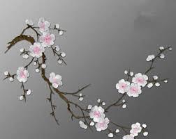 Plum Flower Curtains Plum Blossom Etsy