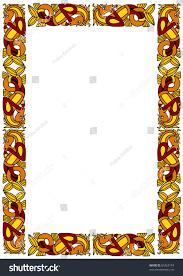 celtic ornamental frame horses stock vector 85363174