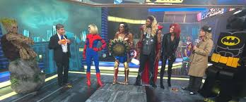 wonder woman thor spider man and more superheroes take over u0027gma