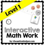 interactive math work book level 1 by theautismhelper teaching